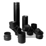 Комплектующие дымоходов из черной стали