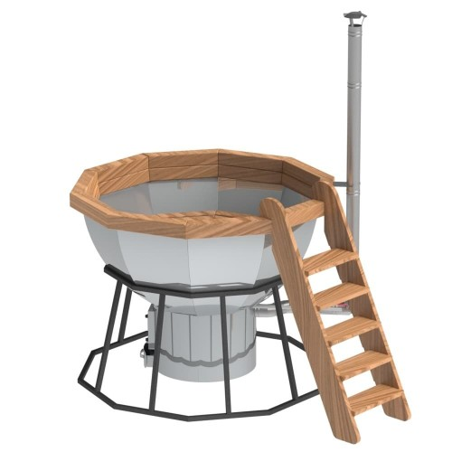 Банный чан 10 граней на подставке с печью производитель Сибирский завод
