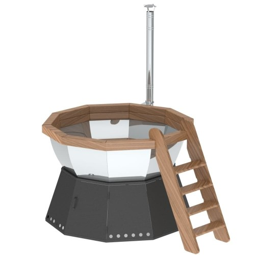 Банный чан 10 граней на подставке с ветрозащитой производитель Сибирский завод