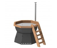 Банный чан 8 граней на подставке с ветрозащитой