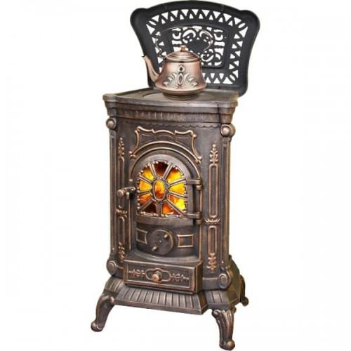 Печь-камин AMBRA Bronze из чугуна для дома и дачи