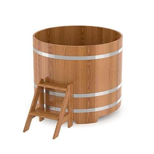 Купель для бани круглая из дуба