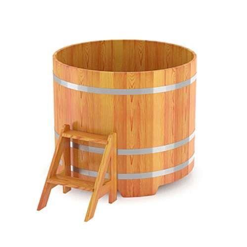 Купель для бани круглая из лиственницы
