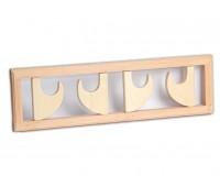 Вешалка для бани на четыре поворотных крючка